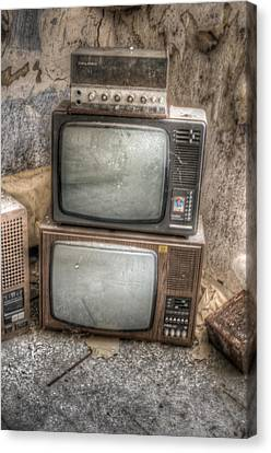 2 Tv's And A Radio Canvas Print by Nathan Wright