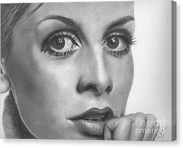 Twiggy Canvas Print by Karen  Townsend