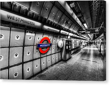 Underground London Canvas Print by David Pyatt