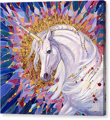 Unicorns Canvas Print - Unicorn II by Silvia  Duran