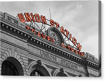 Selecting Canvas Print - Union Station - Denver  by Jeff Steen