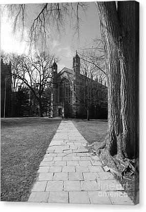 University Of Michigan Law Quad Canvas Print by Phil Perkins