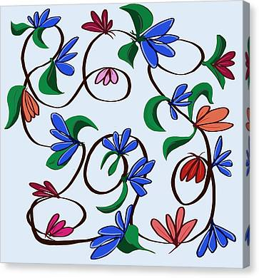 untitled  Floral Canvas Print by Denny Casto