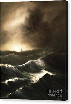 Canvas Print featuring the painting Untitled by Stephen Roberson