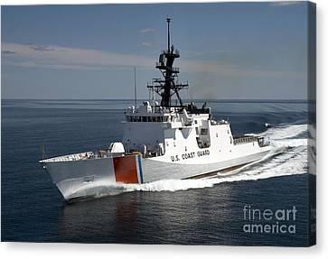 Watercraft Canvas Print - U.s. Coast Guard Cutter Waesche by Stocktrek Images