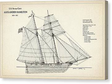 U.s. Revenue Cutter Alexander Hamilton Canvas Print by Jose Elias - Sofia Pereira