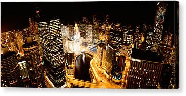 Chicago River Canvas Print - Usa, Illinois, Chicago, Chicago River by Panoramic Images