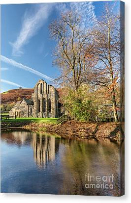 Valle Crucis Abbey  Canvas Print by Adrian Evans