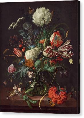 Vase Of Flowers Canvas Print by Jan Davidsz de Heem