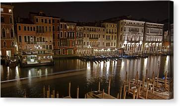 Historic House Canvas Print - Venice By Night by Joana Kruse