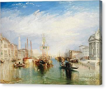 Venice, From The Porch Of Madonna Della Salute Canvas Print by Joseph Mallord William Turner
