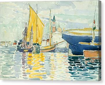 Venice-the Giudecca Canvas Print by Henri-Edmond Cross