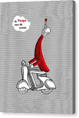 Vespa 1957 Canvas Print