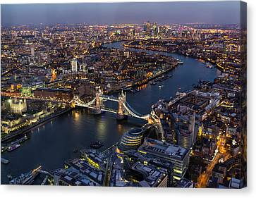 Tower Of London Canvas Print - View From The Shard London by Ian Hufton