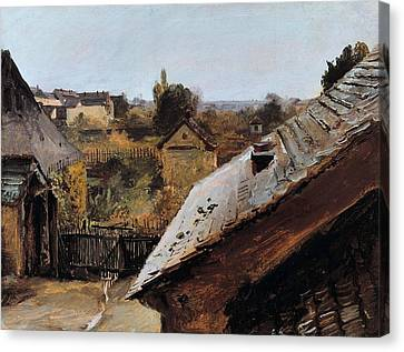 View Of Roofs And Gardens Canvas Print by MotionAge Designs