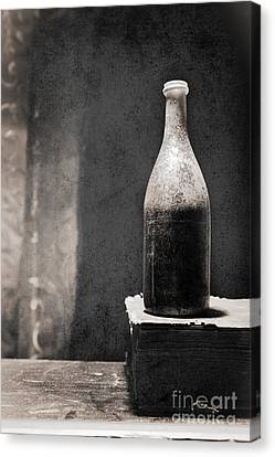 Vintage Beer Bottle Canvas Print by Andrey  Godyaykin