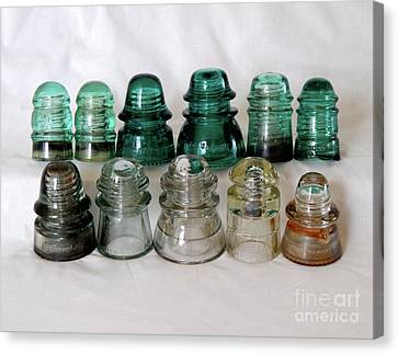 Vintage Glass Insulators Canvas Print
