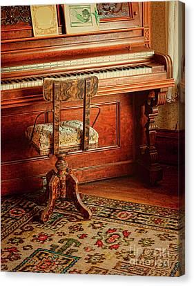 Vintage Piano Canvas Print by Jill Battaglia