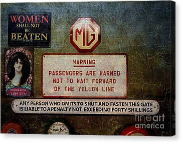 Vintage Signs Canvas Print by Adrian Evans