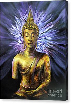 Canvas Print featuring the painting Virtue by Chonkhet Phanwichien