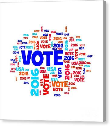 Voters Canvas Print - Vote Usa 2016 by Henrik Lehnerer