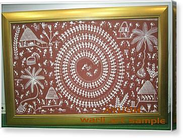 Warli Art Canvas Print