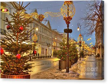Canvas Print featuring the photograph Warsaw, Poland by Juli Scalzi