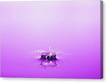 Water Drop Crown Canvas Print
