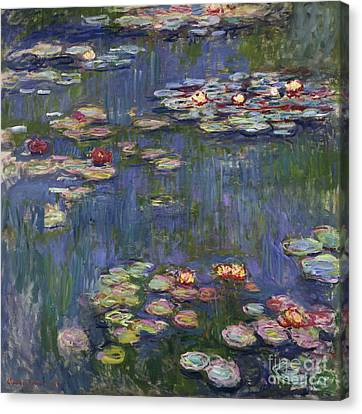 Nympheas Canvas Print - Water Lilies, 1916 by Claude Monet