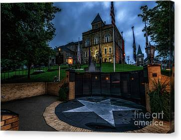 Canvas Print featuring the photograph Webster County Courthouse by Thomas R Fletcher