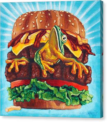 What's In Your Burger? Canvas Print by John Lautermilch