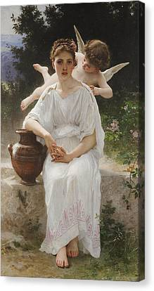 Super Girl Canvas Print - Whisperings Of Love by William-Adolphe Bouguereau