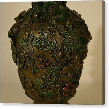 Wildflower Vase Detail Canvas Print by Dawn Senior-Trask