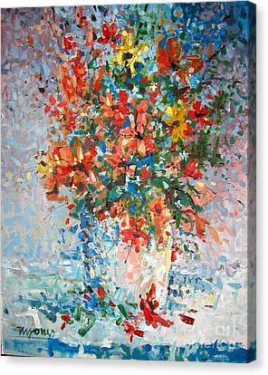 Wildflowers Canvas Print by Micheal Jones