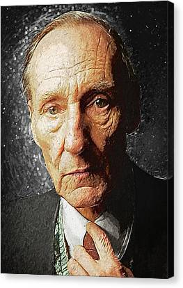 William S. Burroughs Canvas Print by Taylan Apukovska