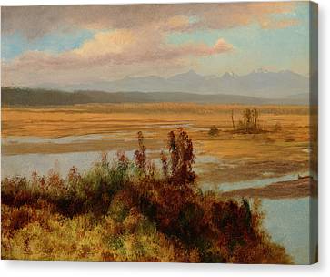 Wind River Country Canvas Print by Albert Bierstadt