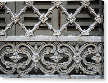 Canvas Print featuring the photograph Window Grill In Toulouse by Elena Elisseeva