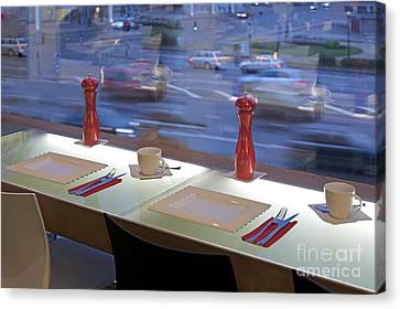 Window Seating In An Upscale Cafe Canvas Print by Jaak Nilson