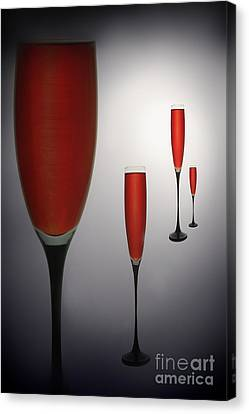 Wine Glasses With Red Wine Canvas Print by   larisa Fedotova