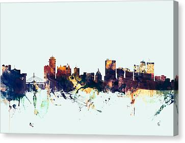 Winnipeg Canada Skyline Canvas Print