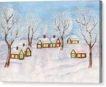 Winter Landscape, Painting Canvas Print by Irina Afonskaya
