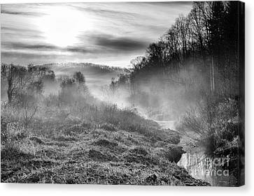 Canvas Print featuring the photograph Winter Mist by Thomas R Fletcher
