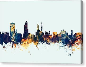 Switzerland Canvas Print - Winterthur Switzerland Skyline by Michael Tompsett