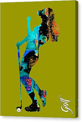 Golf Canvas Print - Womens Golf Collection by Marvin Blaine
