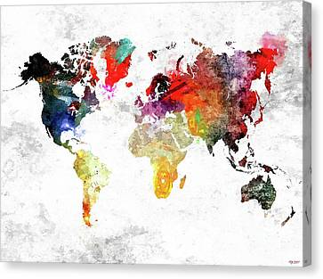 World Canvas Print by Daniel Janda