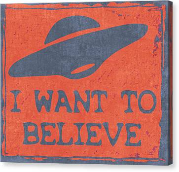X Files I Want To Believe Canvas Print by Kyle West