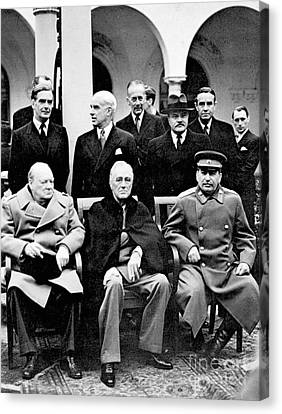 Prime Canvas Print - Yalta Conference, 1945 by Granger