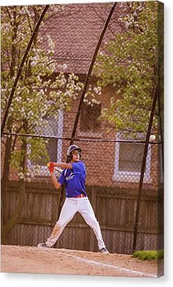 Youth Baseball Match Canvas Print
