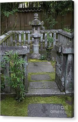 Zen Garden, Kyoto Japan Canvas Print by Perry Rodriguez