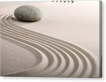 Zen Sand Stone Garden Canvas Print